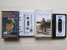 2 X RICKY SKAGGS CASSETTE TAPES, THE VERY BEST OF / COMING HOME TO STAY, TESTED.