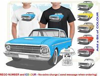 XM FALCON  64 COUPE CLASSIC ILLUSTRATED T-SHIRT MUSCLE RETRO SPORTS CAR