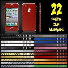 IPHONE 4 FOLIE ROT CARBON ( BUMPER COVER HÜLLE SCHALE SCHUTZFOLIE CASE )