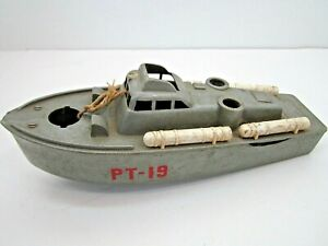 VINTAGE PT-109 PLASTIC BOAT SHIP 8 INCHES LONG 1960'S TOY