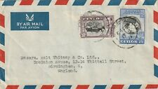1949 Ceylon cover sent from Colombo to Birmingham England