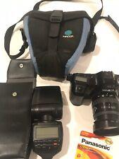 Minolta Maxxum 7000 35MM SLR Auto Focus Camera with lens, flash, bag New Battery