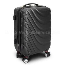 """Reisetasche Handgepäck Boardcase Cabin Reisetrolley, Koffer """"WAVE"""" DUNKELGRAU"""