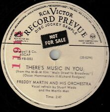 """FREDDY MARTIN!! - """"THERE'S MUSIC IN YOU"""" B/W """"FEATHERFOOT"""" MONO PROMO 78 VG+!!"""