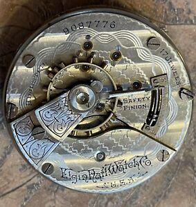 Elgin Gr-144, 18 sz., 17j, m-3 Pocket Watch Mvmt/Disl Parts/Repair 41,000 made!