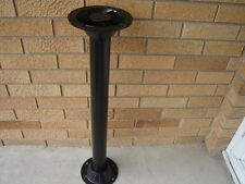 "RV pedestal 29 ½"" BLACK TABLE LEG + 2 ABS surface mount base 6 ½""dia 2 ¼"" pole L"