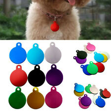 Aluminum Alloy Dog Cat Tag Id Collars Round Colorful Pendant Engraved Necklace