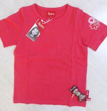 T-Shirt von Sigikid, rot/orange mit Stickerei am Ärmel, Kurzarm. NEU!