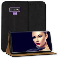 Custodia bookstyle per Samsung Galaxy Note9 / Note 9 (6.4'') - vera pelle - nero