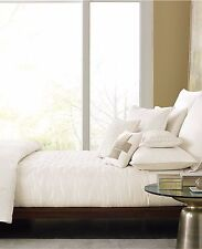 Hotel Collection Verve Ivory Full / Queen Quilted Coverlet $310 DISPLAY