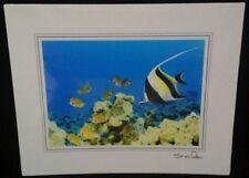 """Moorish Idol Fish Fine Art Print - New, Matted - 8"""" x 10"""" - Steve Doan - Signed"""