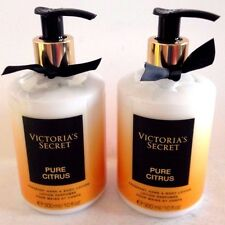 2 Victoria's Secret Fragrant Hand & Body lotion Parfume Pure Citrus cream