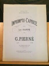 Gabriel Pierné Impromptu caprice pour harpe opus 9 ter édition de Concert Leduc