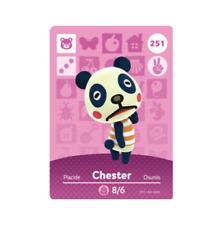 Chester #251 Animal Crossing Amiibo Card Horizons Series 3 New / Unscanned