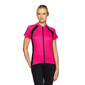 NWT Canari Women's Dream Cycling Jersey Panther Pink Full-Zip Size S