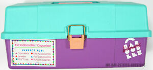 VINTAGE KID CABOODLES ORGANIZER OF CALIFORNIA DOLL STORAGE MAKEUP CARRY CASE 90S