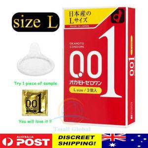 Condom Okamoto 001 0.01 Zero One Japanese Thinnest Size Large L