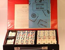 Vintage Chinese Mah-Jong 144 Tiles Game Set With Box (Bamboo bottom)
