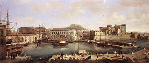 Dream-art Oil painting Caspar Andriaans van Wittel - Cityscape View of Naples