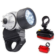 Waterproof Bright 21 Mini LED Bike Bicycle Front & Rear Light Wide Beam Mountain