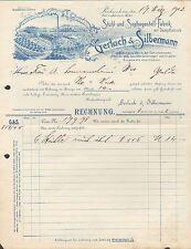 RICHZENHAIN, Rechnung 1902, Stuhl- & Sofagestell-Fabrik Gerlach & Silbermann