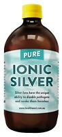 Colloidal/Ionic Silver 500ml Glass Positively Charged Bacteriostatic. 20PPM