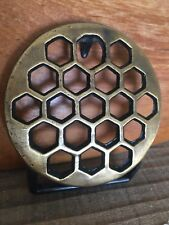 Vintage Brass Honey Comb  Belt Buckle