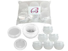 6 Pieces 30 Gram/30ml White Round Frosted Sample Jars with Inner Liner and Lid