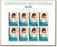 LIECHTENSTEIN 1982 Briefmarkenausstellung LIBA '82 Vaduz Kleinbögen mit ESST