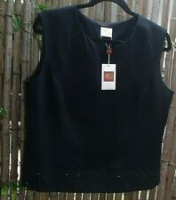 Country Casuals TOP Size 16 Black Dressy Party Cocktail  Evening Occasion