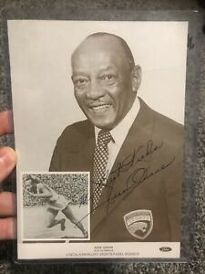 Olympic Gold Medalist Jesse Owens Signed Autographed Lincoln-Mercury 5x7 Photo