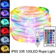 LED Lichtschlauch 10M RGB Lichterschlauch Bunt Lichterkette Leiste USB IP65 Deko