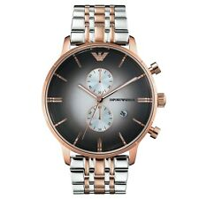 New Authentic Emporio Armani Rose Gold Men's Chronograph Watch AR1721