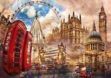 Clementoni Vintage London 1500 Piece England City Landmarks Jigsaw Puzzle