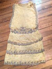 antique Vtg Antique Beaded flapper Deco Dress As Is for repair parts