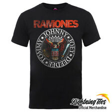 Official Ramones Eagle Seal Band T-Shirt