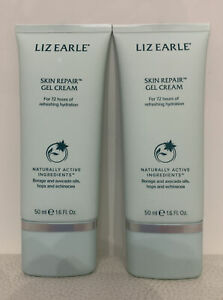 2 X 50ml Liz Earle Skin Repair Gel Cream Borage & Avocado oils Hops & Echinacea