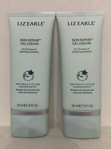 2 X 50ml Liz Earle Skin Repair Gel Cream Borage & Avocado oils Hops & Echinacea