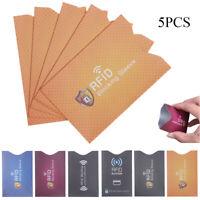 Cubierta de protección Cierre de cierre Escudo RFID Titular de tarjeta