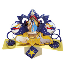 Christmas Nativity Pop-Up Greeting Card Second Nature 3D Pop Up Cards