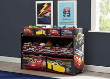 Disney Cars Lightning McQueen Deluxe Multi 7 Drawer Storage Toy Organizer NEW