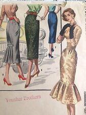 Vintage  Original 50s 60s  Sewing Pattern Wiggle Mermaid Skirt Dress , Pinup
