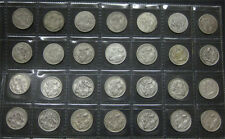 1910 to 1963 Australian complete sixpence set on coin page.