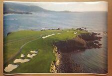 "Pebble Beach 24"" x 36"" Golf Course California Coast PGA tour Club Man Cave Gift"