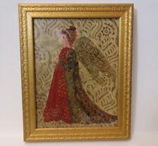 Angel Bombay Company Milkpaint Gold Leaf wood frame Art Guardian of Motherhood