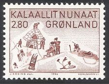 Greenland 1986 Art/Artists/Thule/Hunting/Sport/Games/Buildings 1v (n32173)