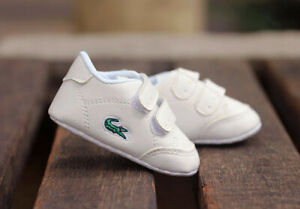 Newborn Baby Boy Girl Crib Shoes Infant Crawling Shoes Soft Sole White Sneakers
