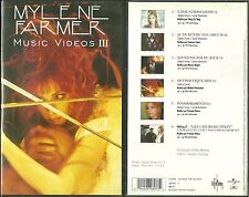 K7 VIDEO / VHS - MYLENE FARMER :BEST OF MUSIC VIDEO III /TAPE