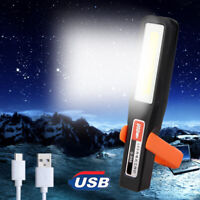 Rechargeable COB LED Magnetic Work Light Portable Camping Tent Lamp Torch USB
