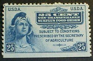 USDA Surplus Food Order  F-VF MNHOG 1939